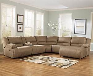 signature design by ashley hogan mocha 6 piece motion With sectional sofa groups