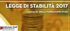 Legge Di Stabilit U00e0 2017  Analisi Della Fondazione Studi Cdl