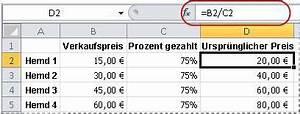 Verkaufspreis Berechnen : anzeigen von zahlen als prozentwerte excel ~ Themetempest.com Abrechnung