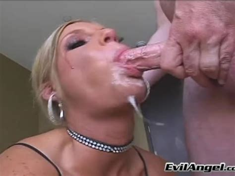 horny phoenix marie gets a gagging load of cum allover her mouth porn tube