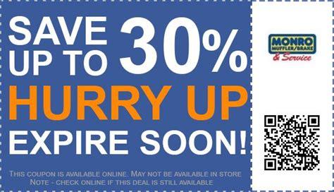 monro muffler brake  service coupons   promo