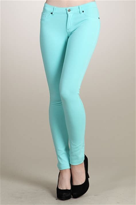 colored jeggings slim fit solid colored jeggings ankle stretch