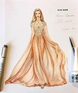 Natalia Zorin Lou: Marker Sketch of Elie Saab, Haute ...