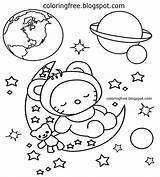Space Coloring Planet Earth Printable Solar Moon System Drawing Simple Clipart Spaceman Amazing Planets Colouring Sheet Cartoon Landing Colour Children sketch template