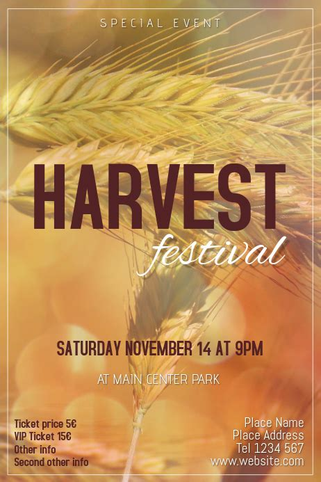 harvest festival event flyer template postermywall