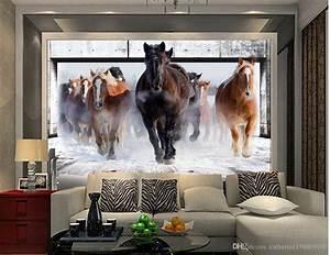 Natural Beautiful Horse Living Room Tv Wall Mural 3d