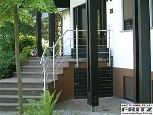 Treppengeländer Außen Holz : edelstahl treppengel nder au en 01 02 metallbau fritz ~ Michelbontemps.com Haus und Dekorationen