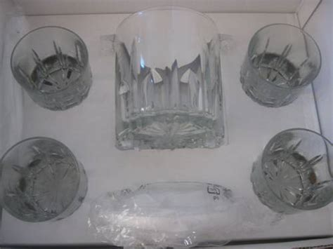 Godinger Silver Art 7 Piece Crystal Barware Made In Italy