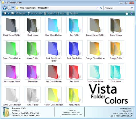 vista color vista folder colors by windowsnet on deviantart