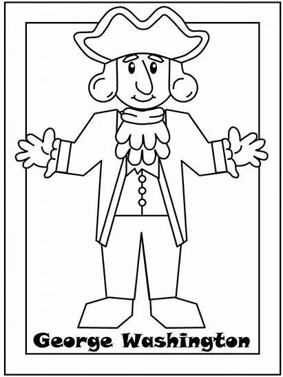 Coloring Pages George Washington President Pintables Presidents