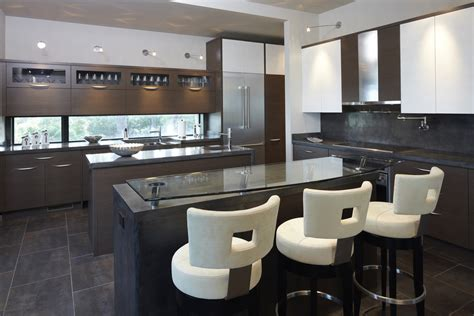 bar stools kitchen modern with concrete island