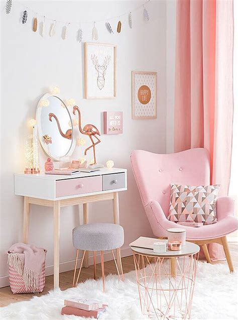Pink Living Room Interior Design Furniture Decor Ideas by Copper And Blush Home Decor Ideas Pretty In Pink Bedroom