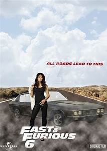 Fast And Furious 6 Letty Ortiz character Poster by ...