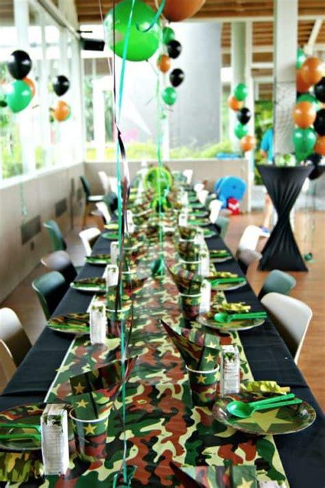 camouflage camo birthday party ideas