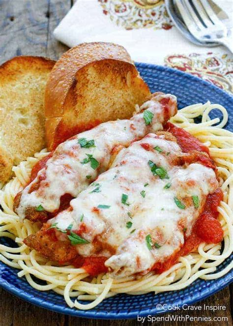 You won't have to spend a lot of time in the kitchen either cooking or cleaning up, either. Easy Chicken Parmesan - Spend With Pennies