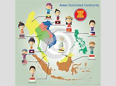 Asean Economics CommunityAEC Eps10 Format Stock Vector