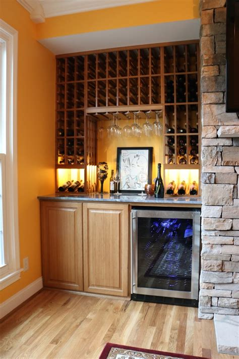 living room remodel traditional wine cellar
