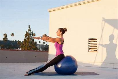 Ball Exercises Stability Roll Ab Pose Pilates