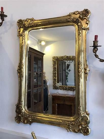Antique Mirror Frame Gilded Wooden Furniture Antiques