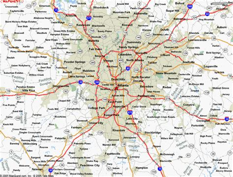 atlanta map travelquazcom