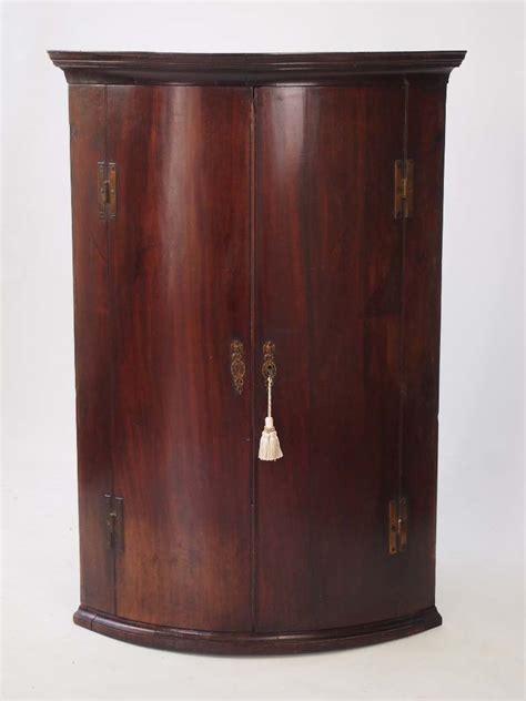 Georgian Corner Cupboard by Antique Georgian Bow Fronted Mahogany Corner Cupboard