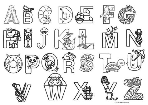printable abc coloring pages  kids coolbkids
