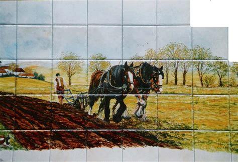 fresque murale salle de bain paysage sur fa 239 ence d 233 cor moderne fresque sur carrelage de la table cr 233 dence cuisine