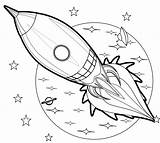 Rocket Coloring Pages Simple Aircraft Books Complex Ages Patterns Coloringpagesfortoddlers Space Dari Disimpan sketch template