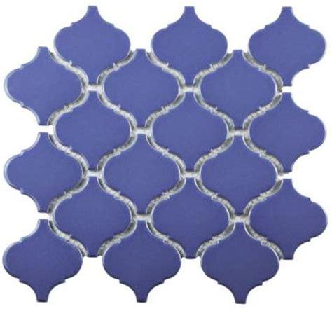 Home Depot Merola Lantern Ceramic Tile by Merola Tile Metro Lantern Glossy Blue 9 3 4 In X 10 1 4