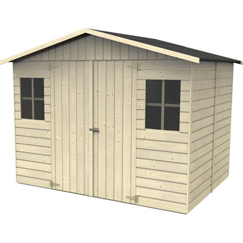 cabanes en bois leroy merlin abri de jardin bois noranda 6 15 m 178 ep 19 mm leroy merlin