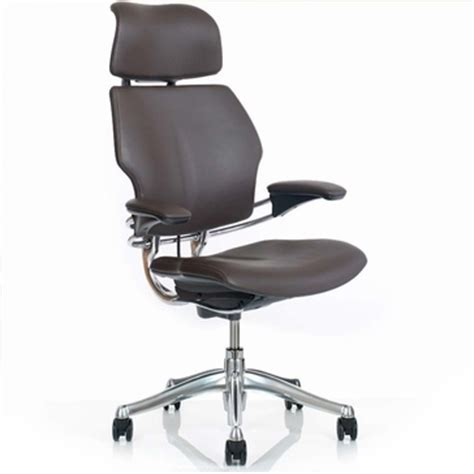 shop humanscale freedom chairs in leather with headrest
