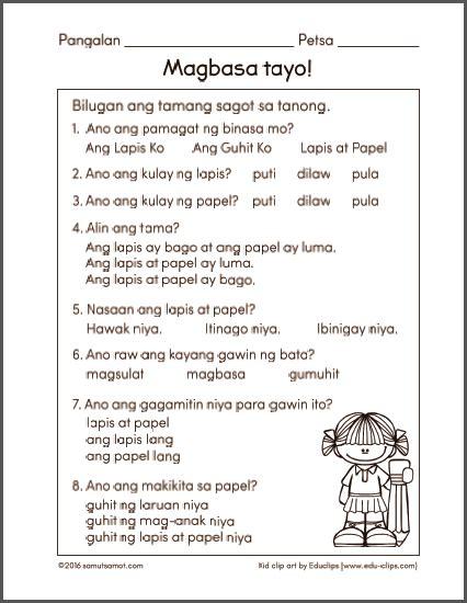 free printable worksheets for filipino kids worksheets