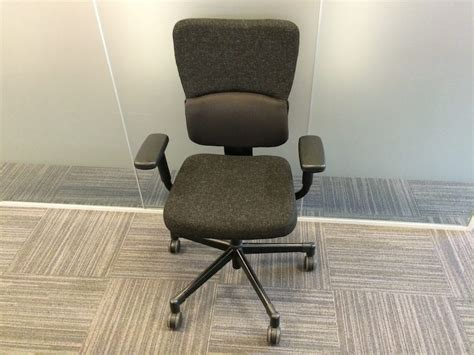 used steelcase let s b black ergonomic office chair