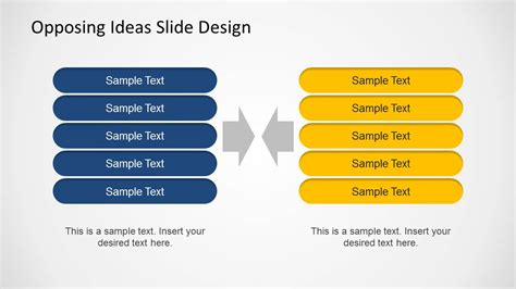 opposing ideas  template  powerpoint slidemodel