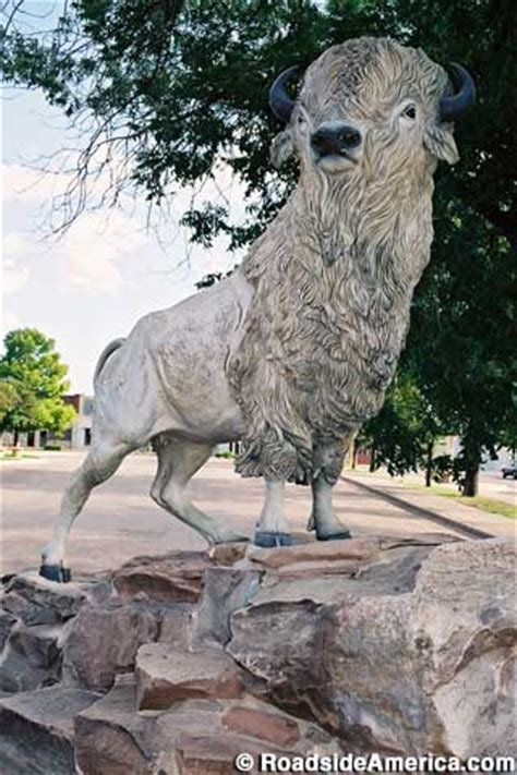 white buffalo statue  snyder texas