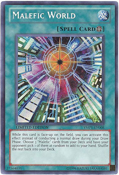 yu gi  card ymp en malefic world secret rare