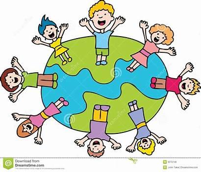 Monde Enfants Kinder Welt Um Bewegen Children