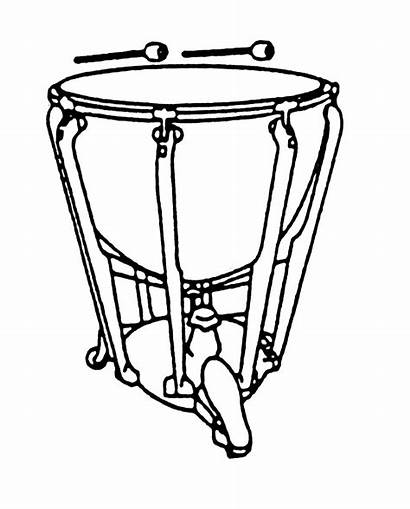Clipart Drum Kettle Timpani Drums Coloring Percussion