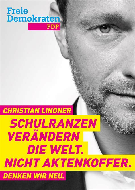 bundestagswahl  plakat fdp lindner design tagebuch