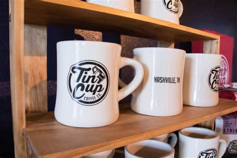 Delicate, more formal, and the mug; Our Cafe in Our Madison, TN Location - Tin Cup Coffee Company Nashville