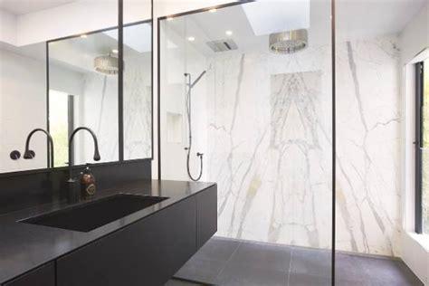 black white bathroom black taps shower