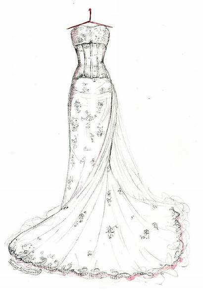 Gown Dresses Prom Sketch Drawing Drawings Sketches