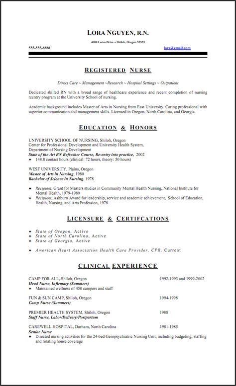 Registered Duties Resume by Sle New Rn Resume Resume Sles Dec 2014
