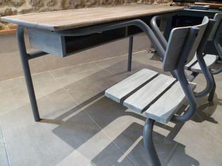 bureau patiné bureau d 39 écolier ancien 2places patiné meubles et