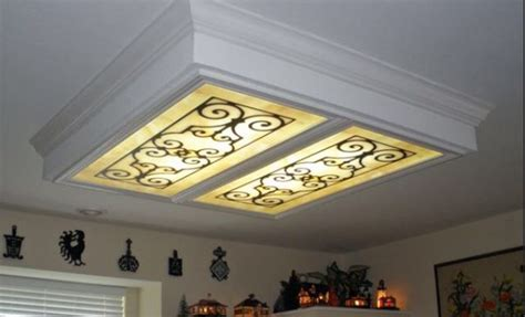 cover  ugly lighting fluorescent light cover diy