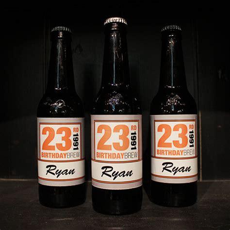 personalized birthday brew vinyl beer bottle label