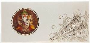 indian wedding card with 3d ganesha shehnai morpankh With 3d indian wedding invitations