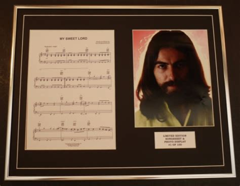 George Harrison/song Sheet & Photo Display/ltd. Edition/my