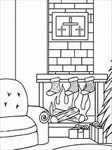 Coloring Pages Christmas Chimneys Chimney Printable Template Recommended sketch template