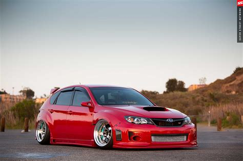 modified subaru impreza hatchback 2009 subaru sti hatchback red cars modified wallpaper